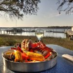 Dinner with a view at skull creek boathouse