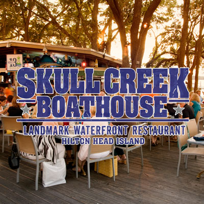 Skull creek boathouse outdoor bar