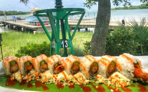 Outdoor places to eat sushi